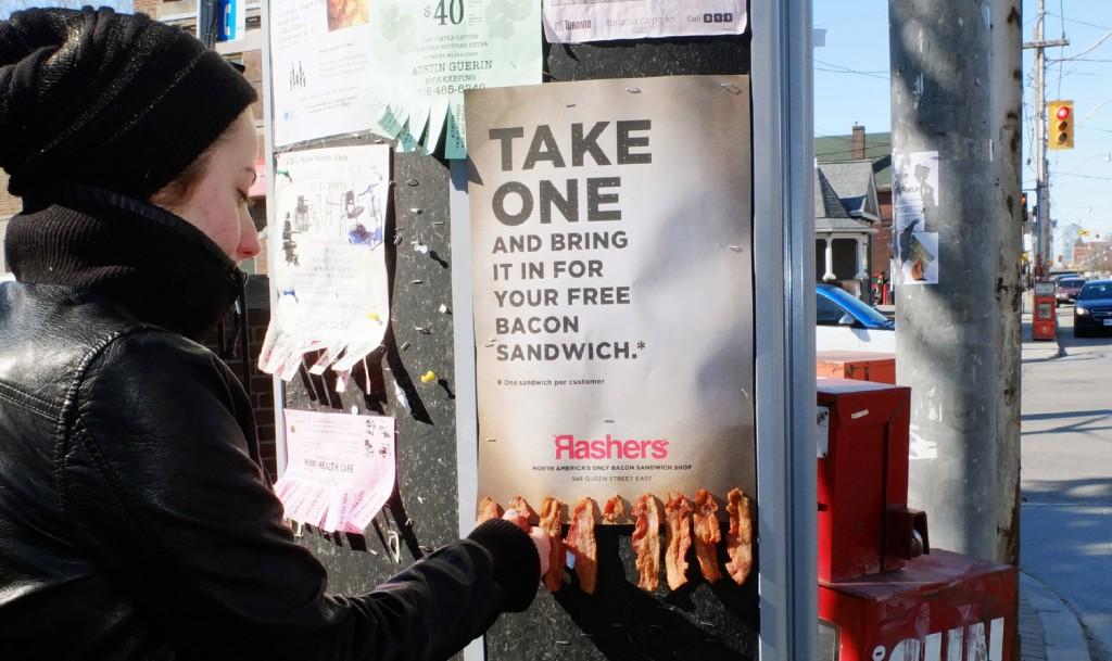 Pomysły na reklamę: Ogloszenie z bekonem