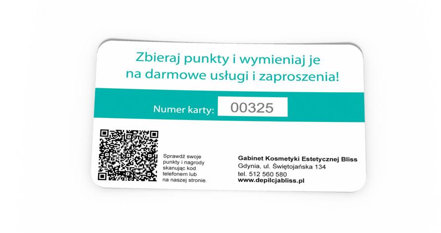 karta klienta z numerem