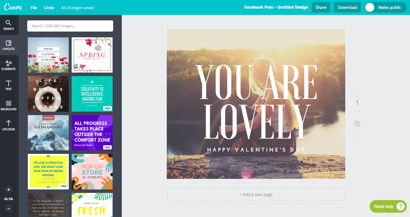 W programie Canva intuicyjnie i szybko stworzysz przepiękne grafiki nie tylko na Facebooka.