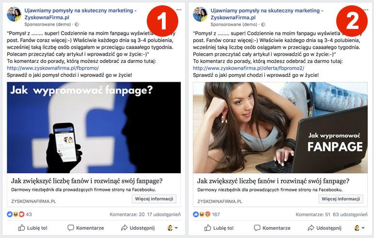 seks w reklamie na facebooku